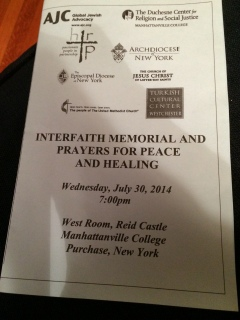 Interfaith memorial service photo